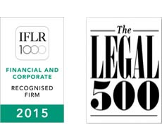 Legal 500 and IFLR recognized law firm